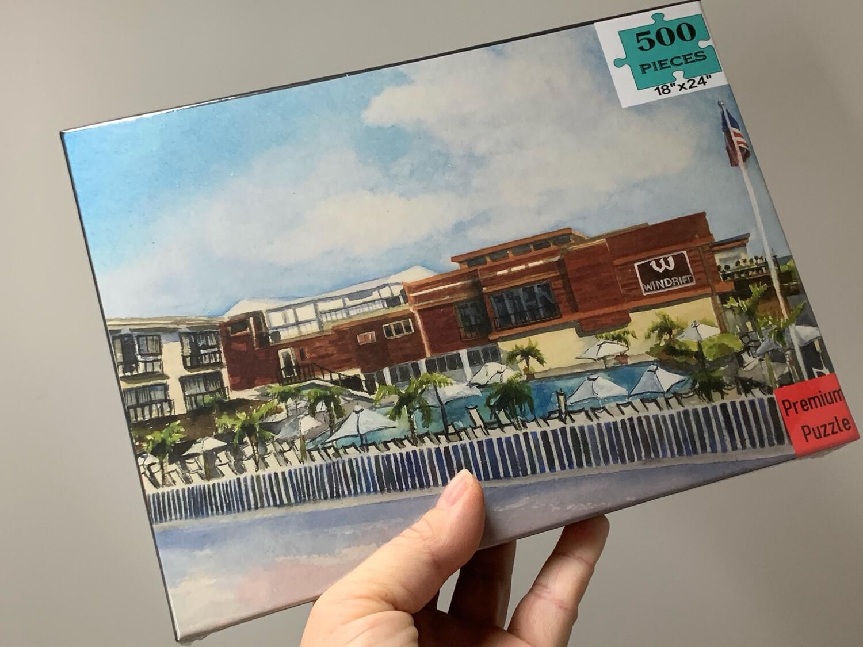 "Avalon NJ Puzzle - 500 Piece Windrift Resort Puzzle 18""x24"""