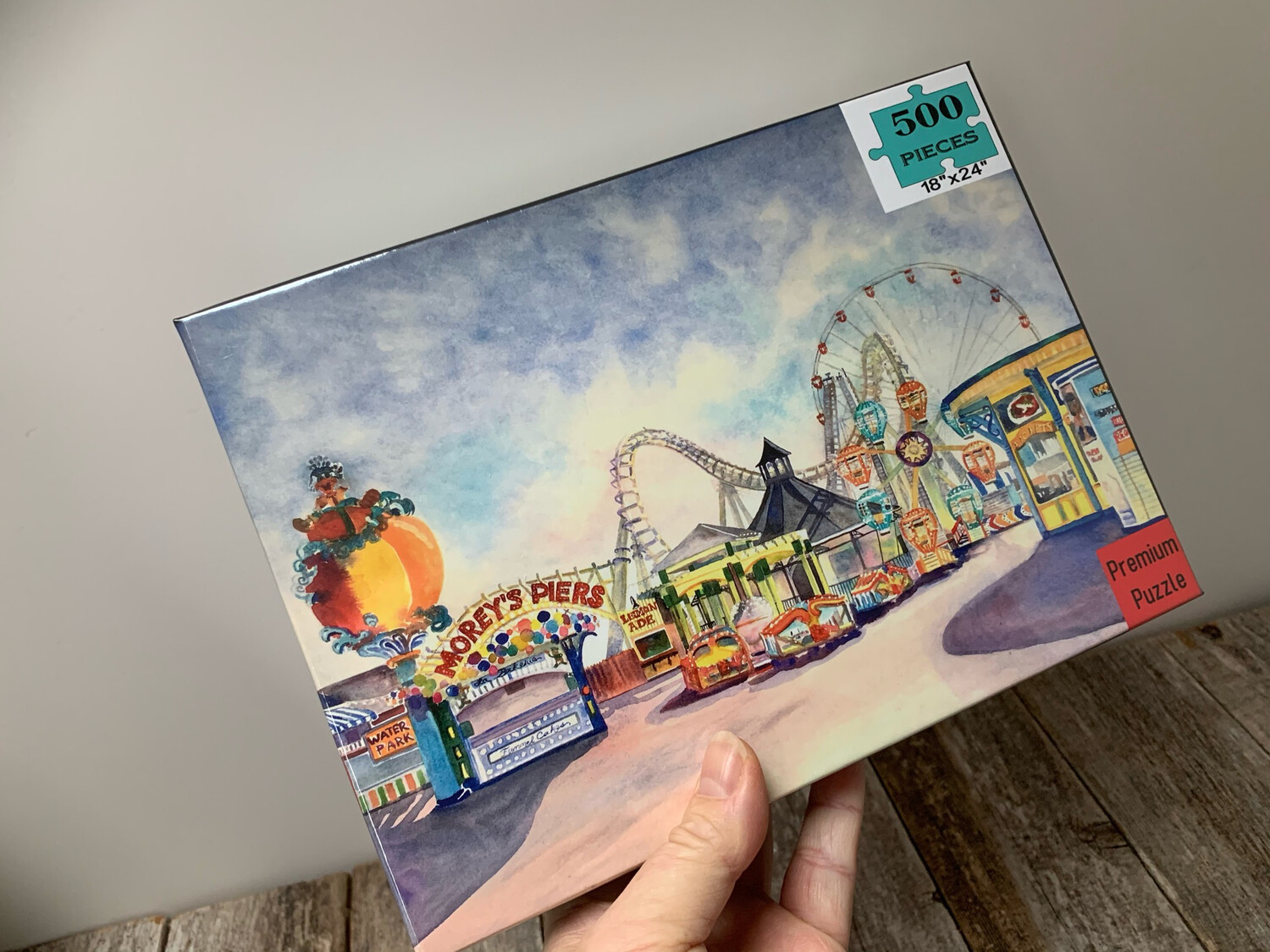 "Wildwood Puzzle  - 500 Piece Morey's Piers on the Boardwalk Puzzle 18""x24"""