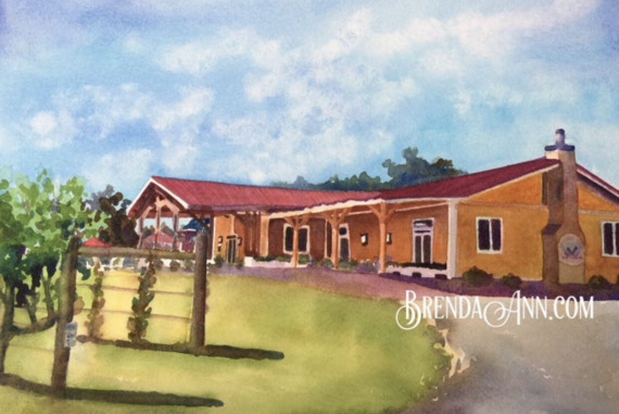 Willow Creek Winery in Cape May, NJ - Hand Signed Archival Watercolor Print