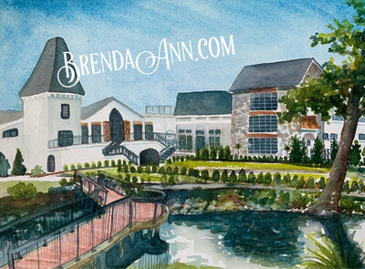 Renault Winery in Egg Harbor City, NJ - Hand Signed Archival Watercolor Print