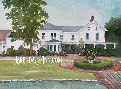 Abbie Holmes Estate  in Ocean View, NJ - Hand Signed Archival Watercolor Print