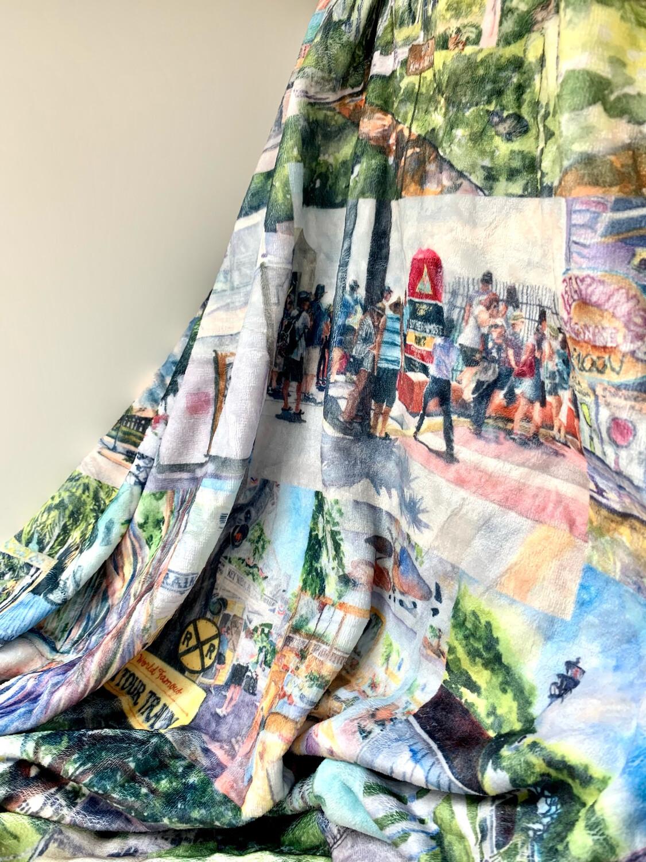 Key West, FL - Cozy Fleece Blanket - Pre-order - Allow 3 Weeks