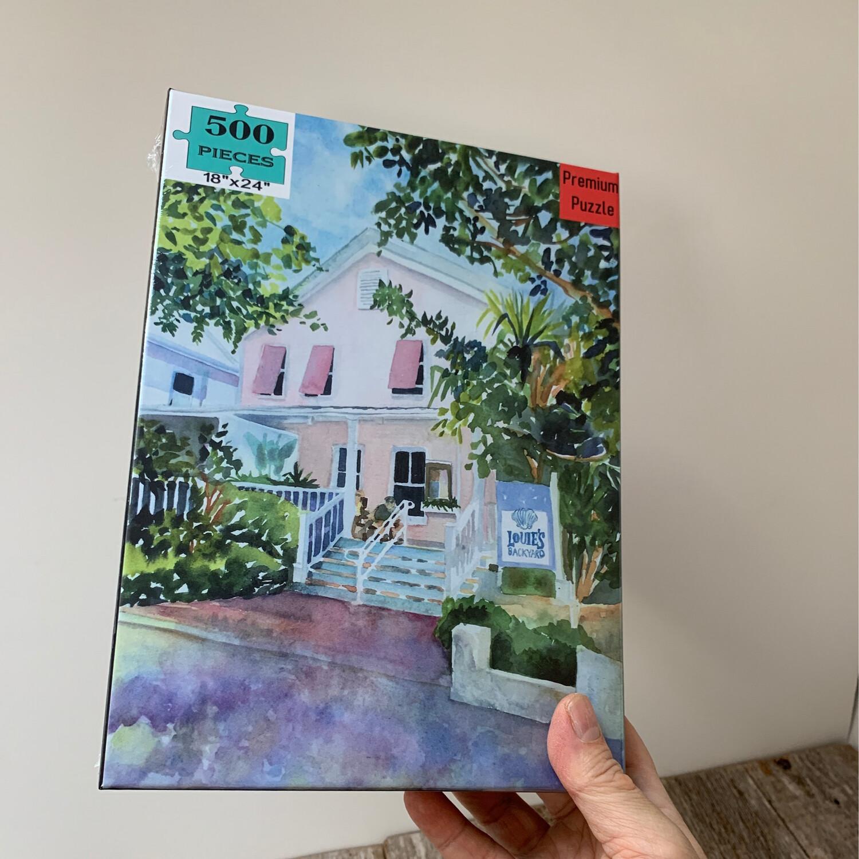 """Key West Puzzle - 500 Piece Louie's Backyard Puzzle 18""""x24"""""""