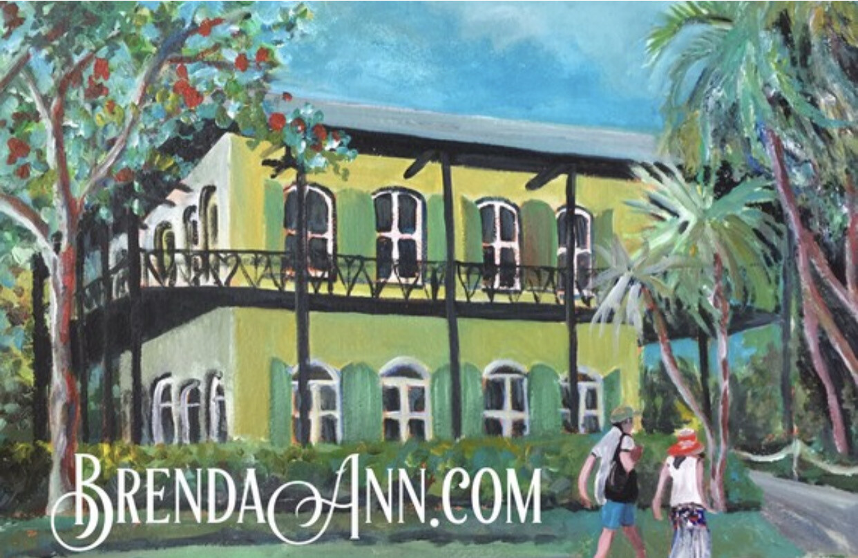 Ernest Hemingway Home & Museum in Key West, FL - Hand Signed Archival Art Print