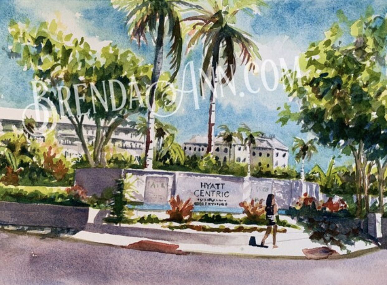 Hyatt Centric Key West - Hand Signed Archival Watercolor Print