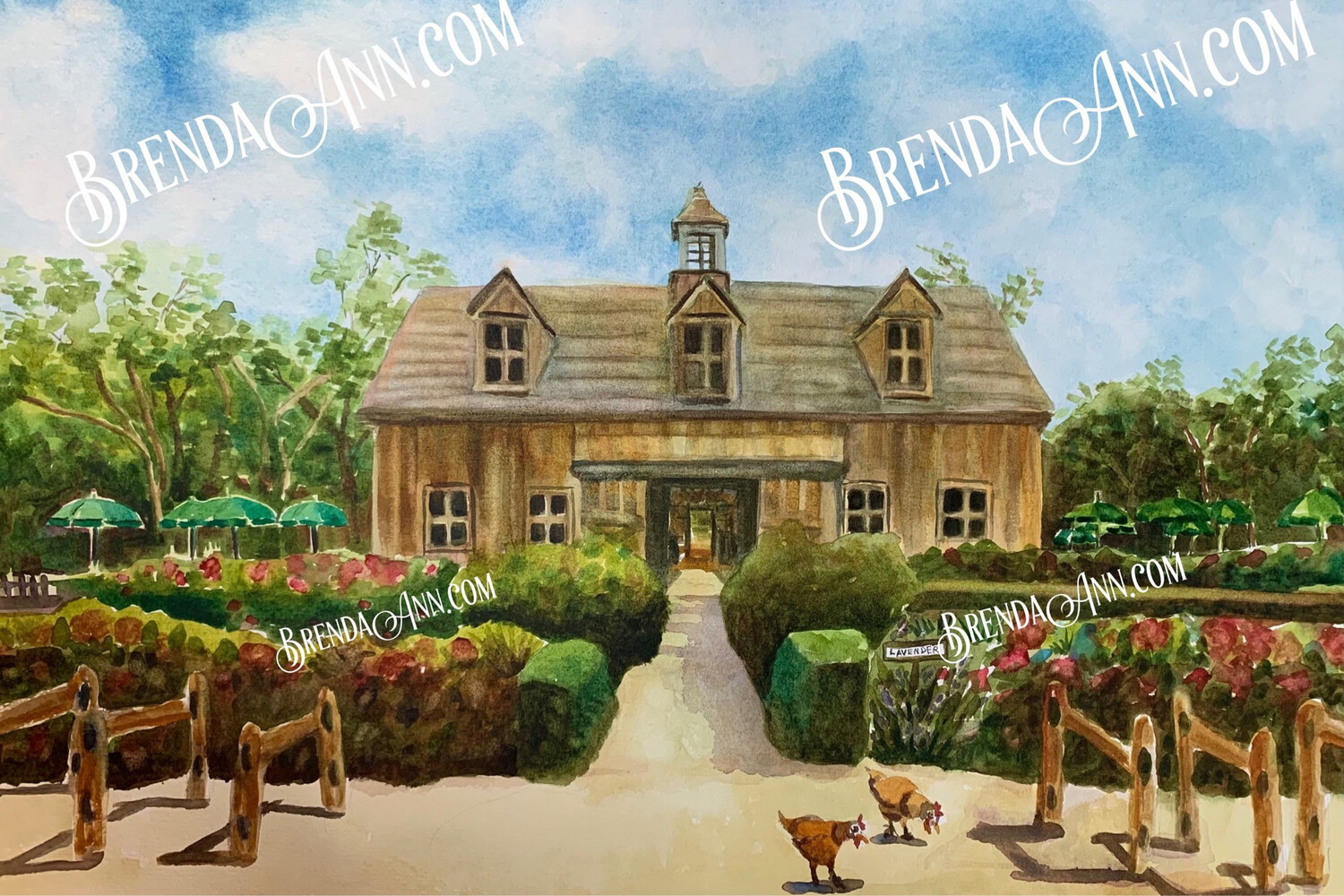 Beach Plum Farm in Cape May, NJ - Hand Signed Archival Watercolor Print