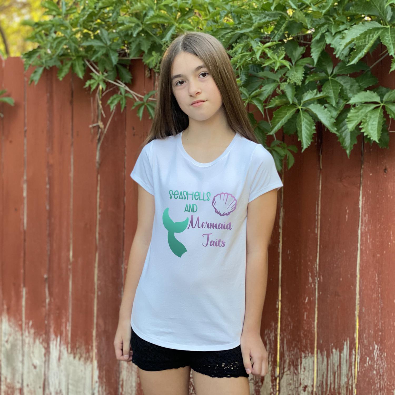Seashells and Mermaid Tails T-Shirt