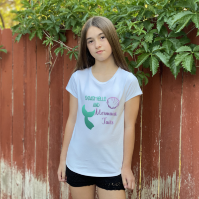 Seashells and Mermaid Tails T-Shirt