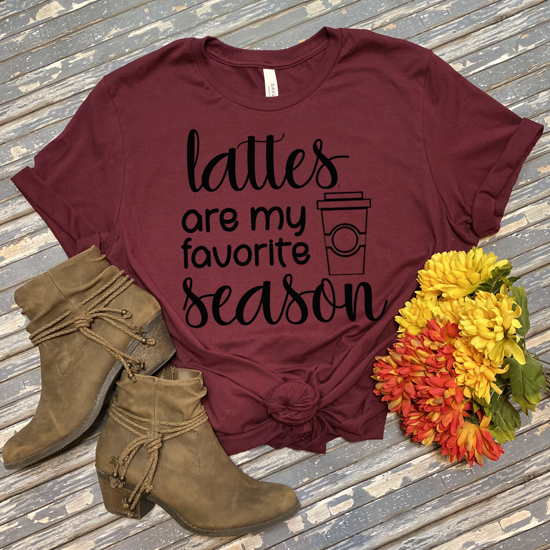 Lattes Are my Favorite Season T-Shirt
