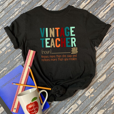 Vintage Teacher T-Shirt