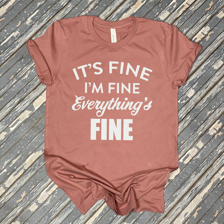 It's Fine Womens Graphic T Shirt