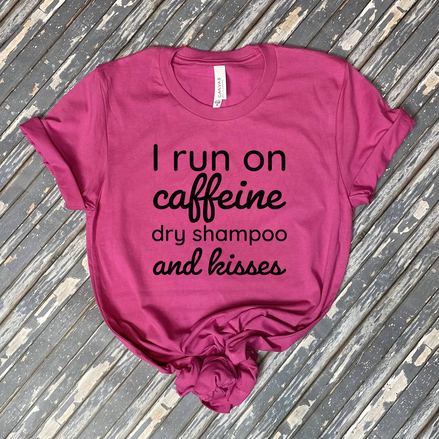 Caffeine And Kisses Graphic Tee