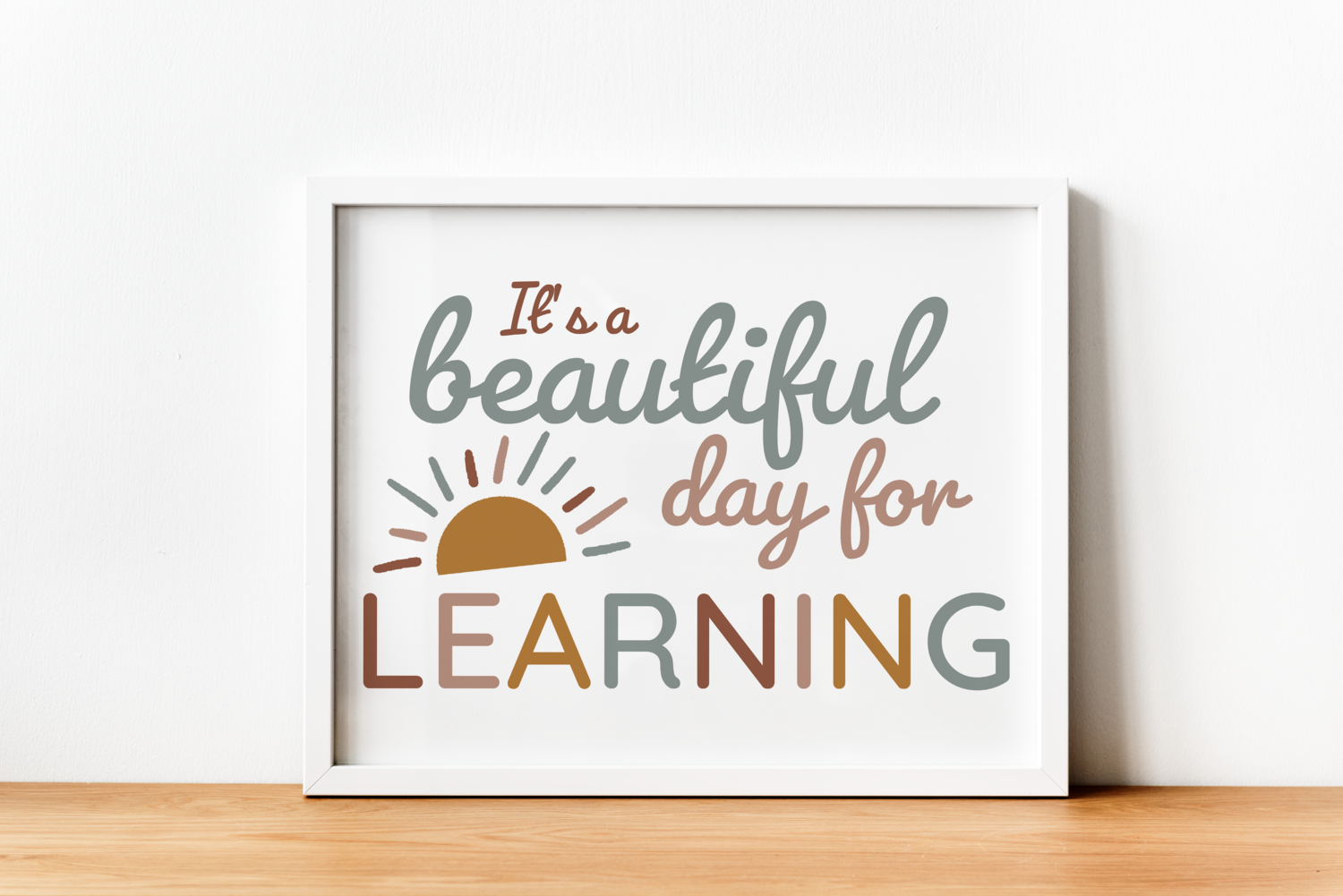 It's A Beautiful Day For Learning Digital Printable