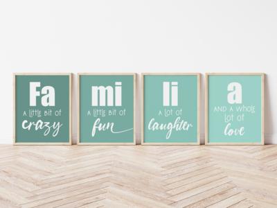 Familia Set of 4 Digital Printable