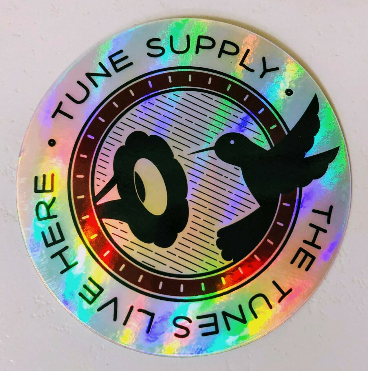 Two Limited Edition Holographic Vinyl Stickers