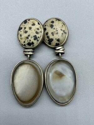 Duo Stone Earrings
