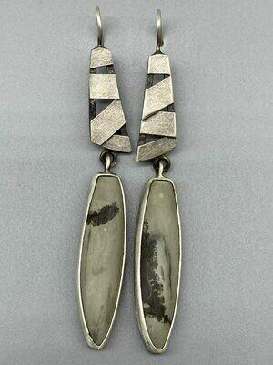 Boardwalk Bezel Set Earrings