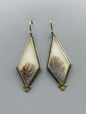 Dendritic Agate Drop Earrings