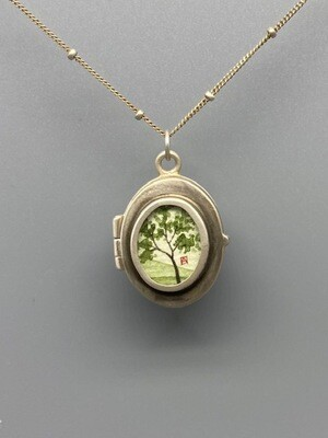 Hand Painted Spring Maple Locket