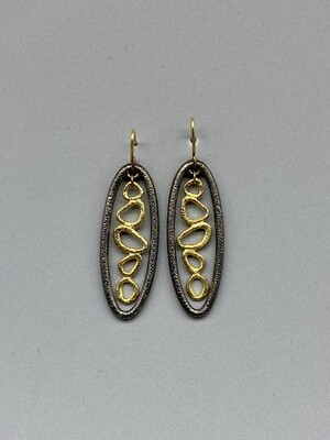 18k and Sterling Silver Earrings