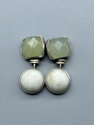 Jade and Riverstone Drop Post Earrings