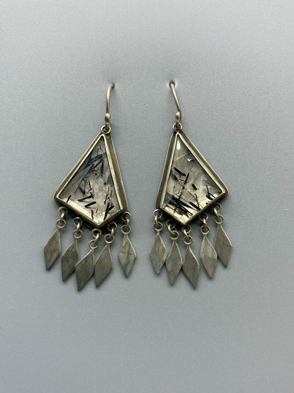 Tourmalated Quartz Drop Earrings