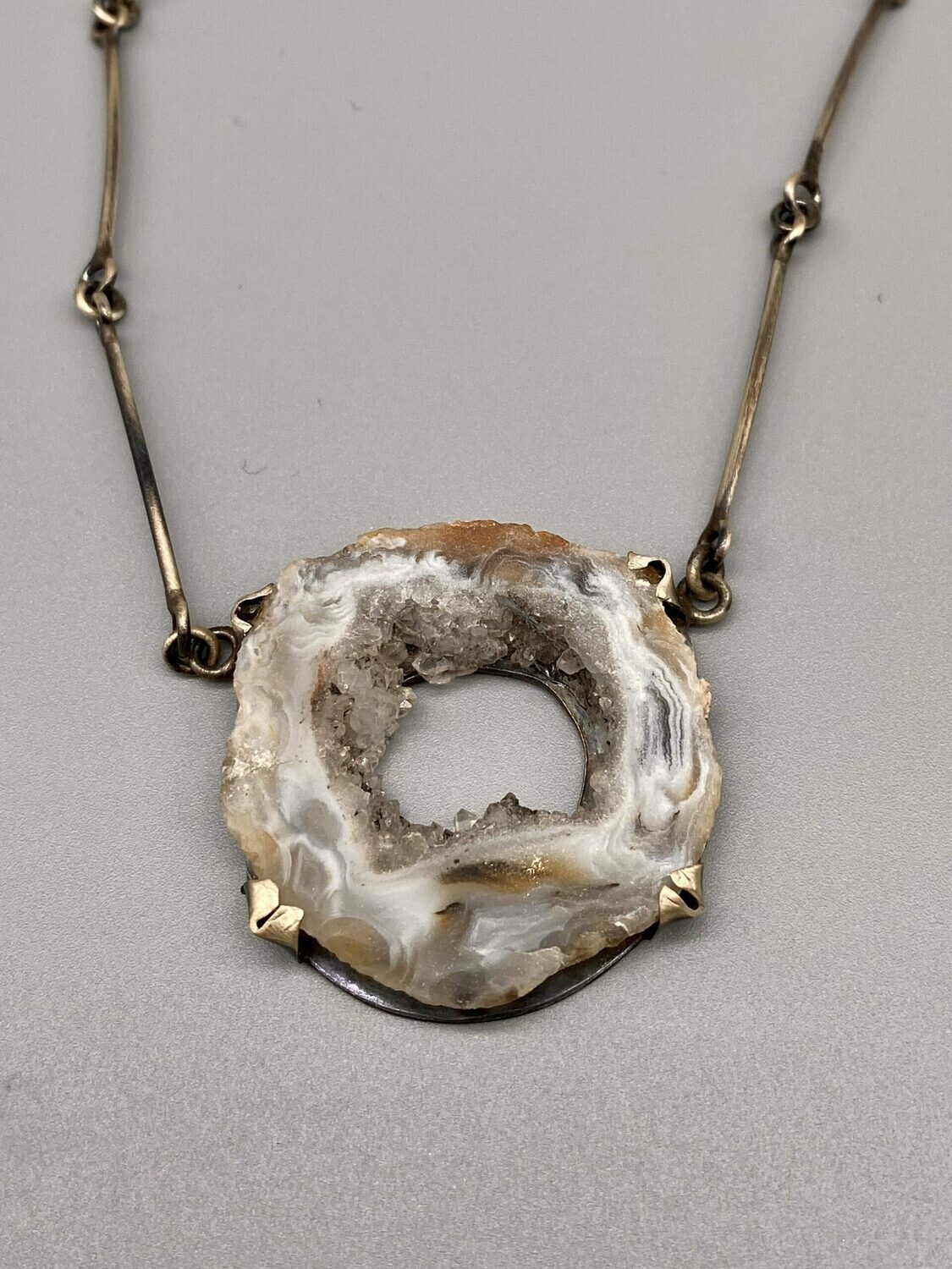 Geode One of a Kind Necklace