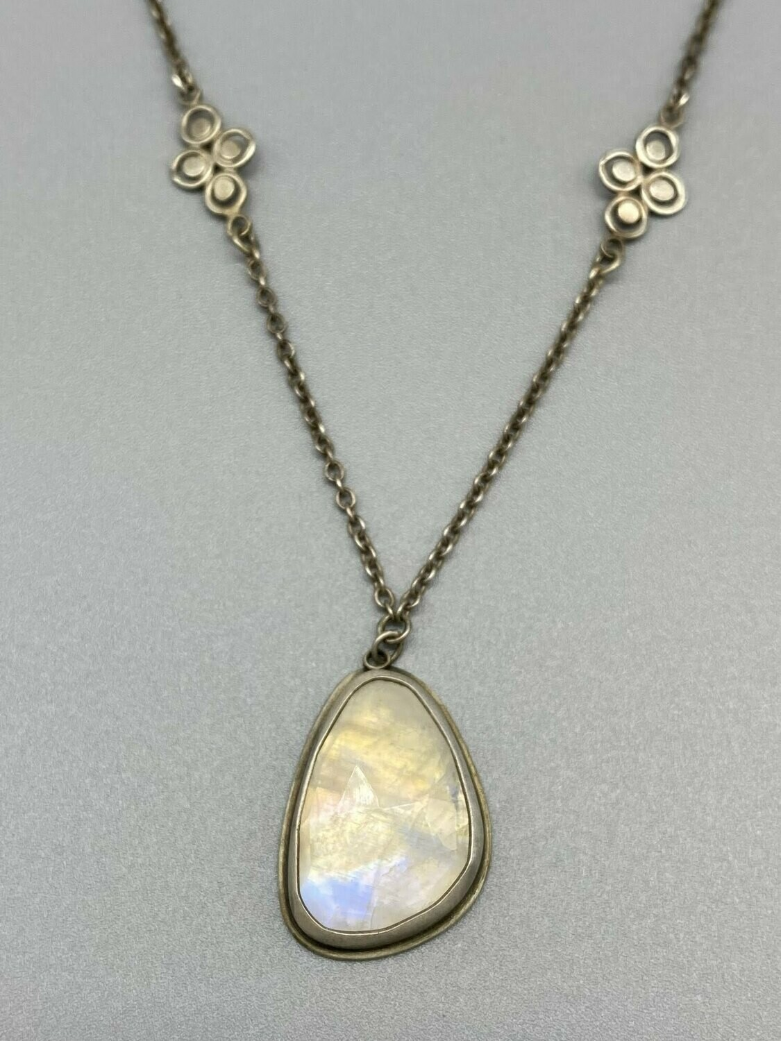 Rose Cut Moonstone Necklace