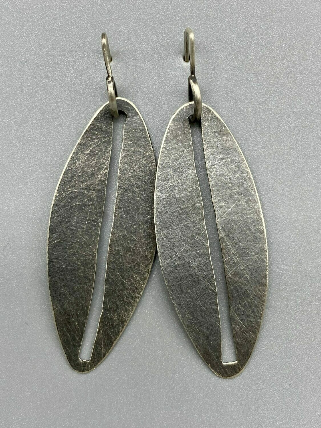 (22)  Sterling Silver Oval Slit Discs Ear Wires - Terri Logan - Richmond IN