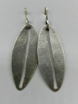 ​Sterling Silver Oval Slit Discs Ear Wires