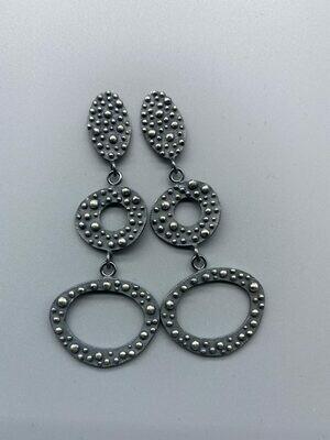 Sterling Silver Bumpy Post Earrings