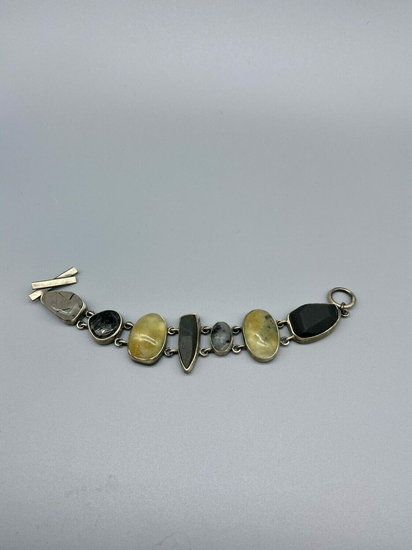 Organic Riverstone Bracelet, SS