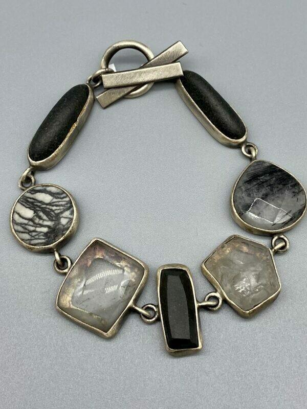 Organic Multi-stone Bracelet, s/s - Terri Logan - Richmond IN