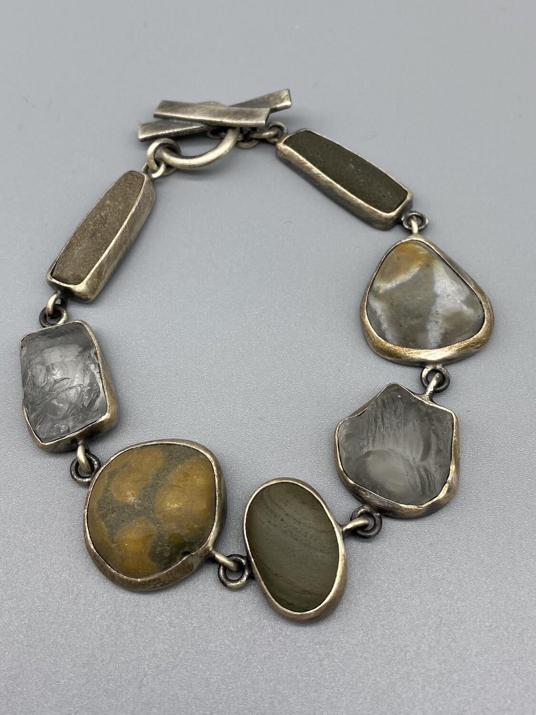 Multistone One of a Kind Bracelet