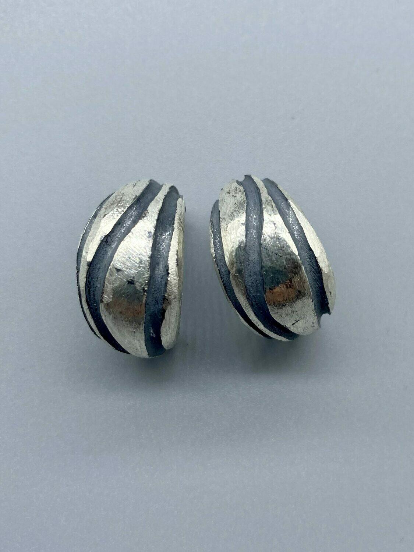 Sterling Silver Open Hoop Post Earrings