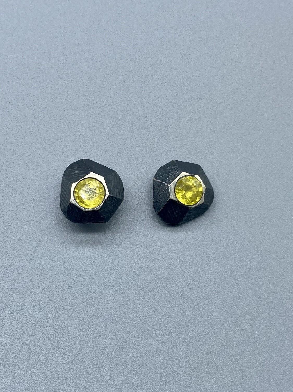 Yellow Sapphires Studs