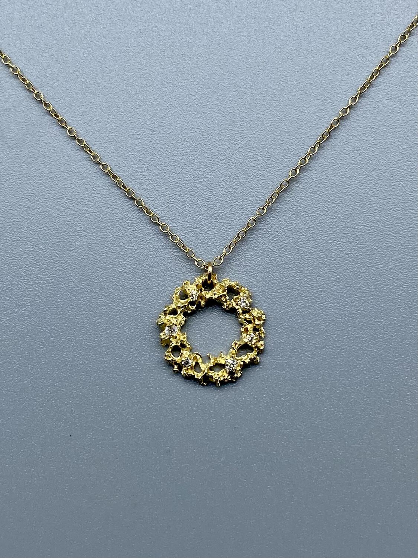 14k Ring of Fire w/Diamond Necklace  - Branch Jewelry - Venice CA