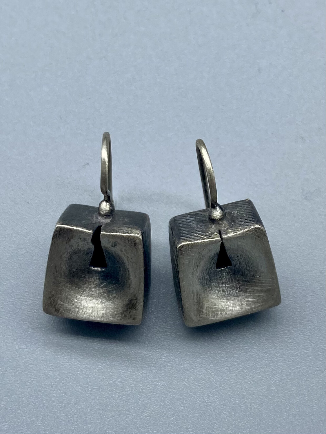 Sterling Silver Keyhole Box Ear Wires