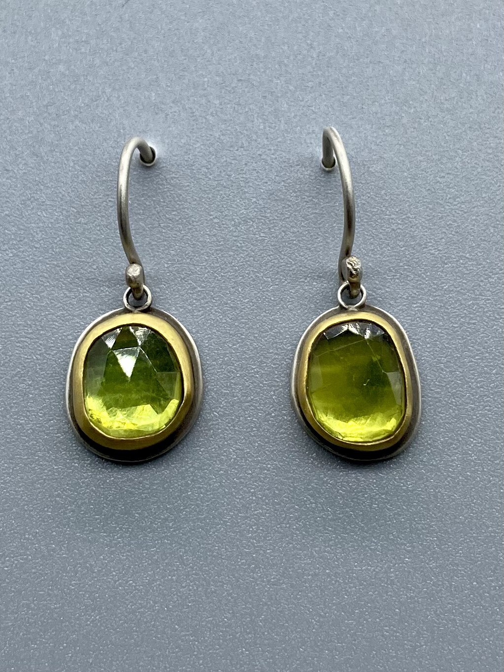Rosecut Vesuvianite Drop Earrings