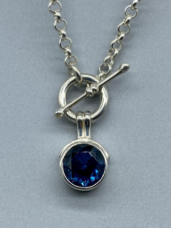 Royal Blue Topaz Pendant Necklace