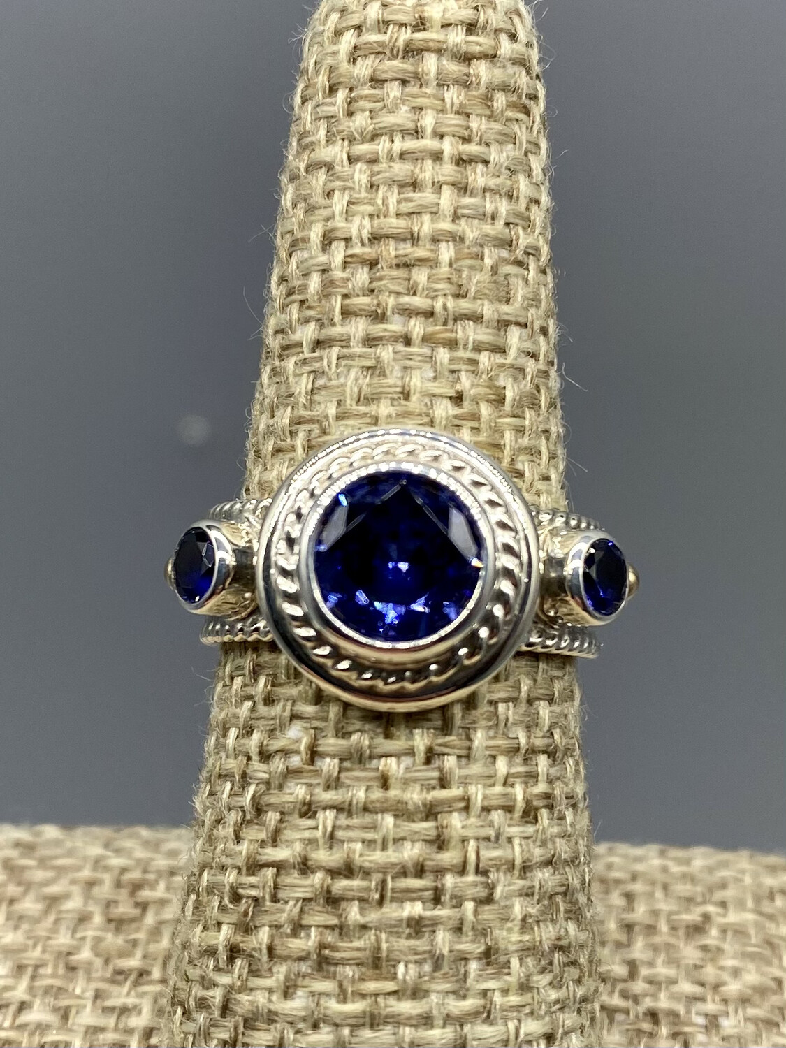 French Blue Topaz Ring