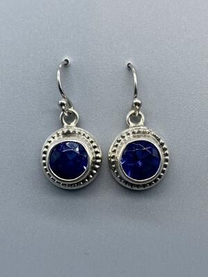 French Blue Topaz Earrings