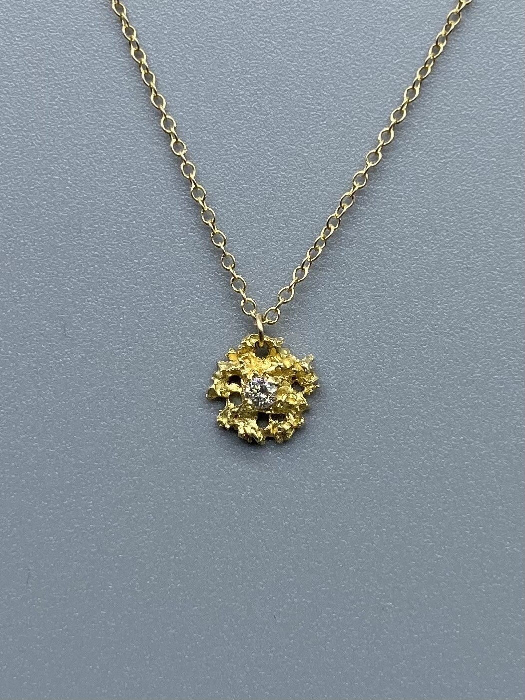 Gold Star Pendant with Diamonds