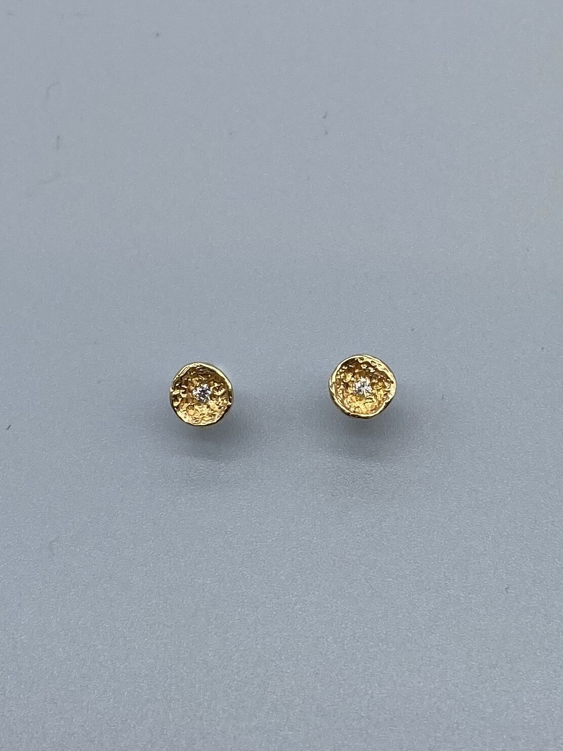 Yellow Gold Diamond Studs