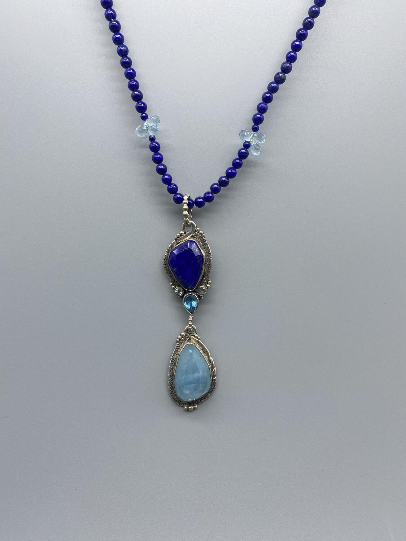 Lapis and Aquamarine Necklace