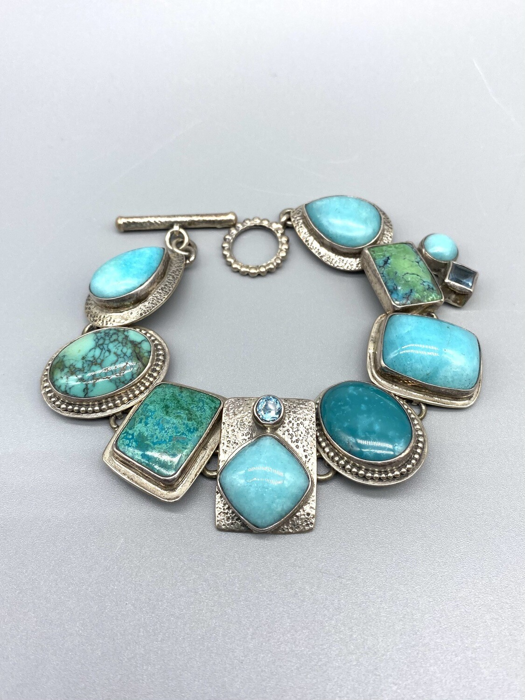 Turquoise, Amazonite, Blue Topaz Bracelet