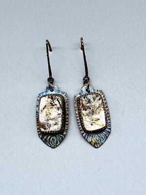 Astrophyllite Earrings, Sterling Silver  - Julie Shaw - Cocoa FL
