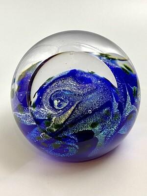 Blue Planet Handmade Paperweight