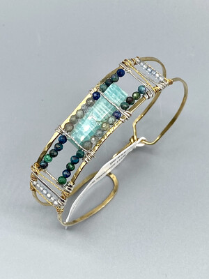 Amazonite Window Cuff Bracelet