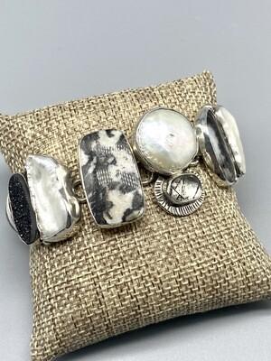 Black & White Agate Bracelet